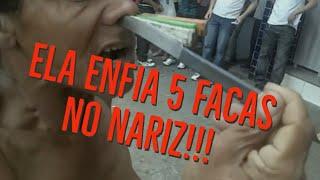 5 facas no nariz e um salto mortal