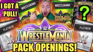 WRESTLEMANIA 34 PACK OPENINGS ALONG WITH WM34 PLATINUM PACK OPENINGS Noology WWE SuperCard Season 4