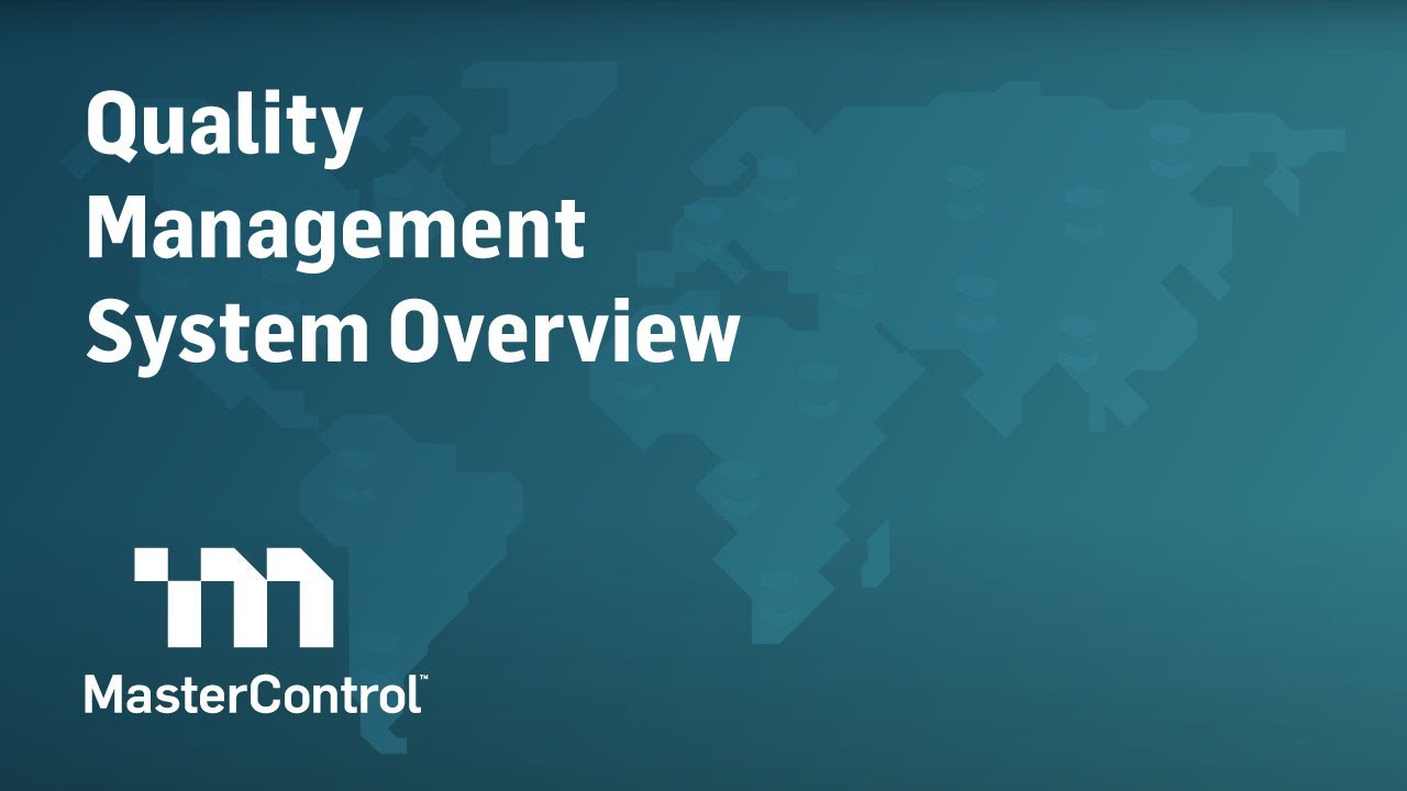Demo: MasterControl Quality Management System (QMS