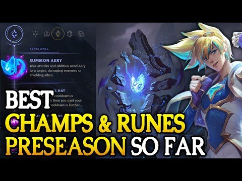 Best PRESEASON Runes and Champs so far in 7.22 (League of Legends) thumbnail