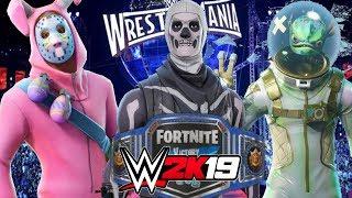 FORTNITE CHAMPIONSHIP WWE 2K19 | Skull Trooper vs Leviathan vs Rabbit Raider