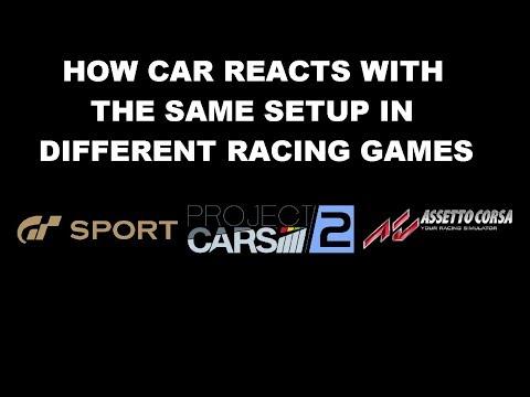 Setup differences between 3 racing games.