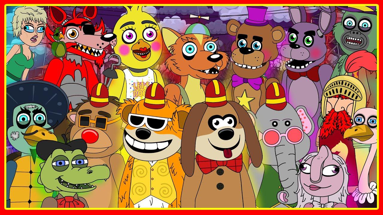 Willy's Wonderland vs The Banana Splits vs Five Nights at Freddy's (Parody Animation)