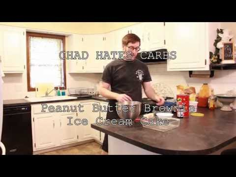 Peanut Butter Brownie Ice Cream Cake