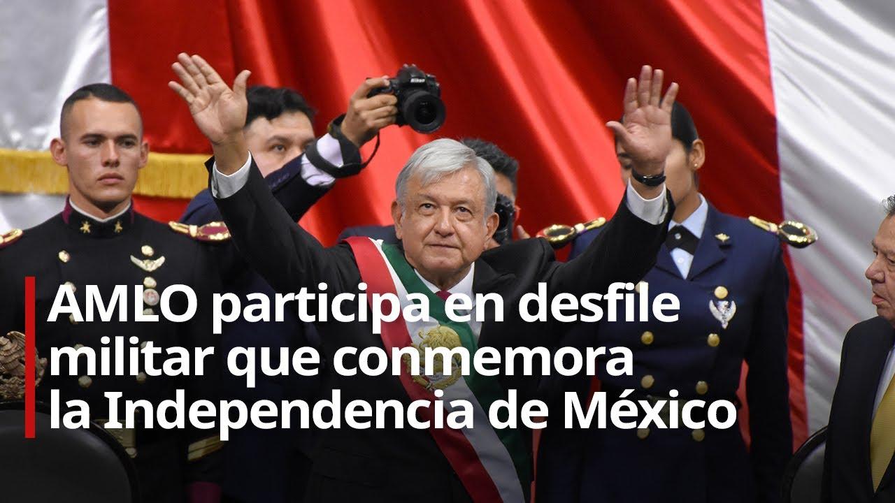 Download AMLO participa en desfile militar que conmemora la Independencia de México
