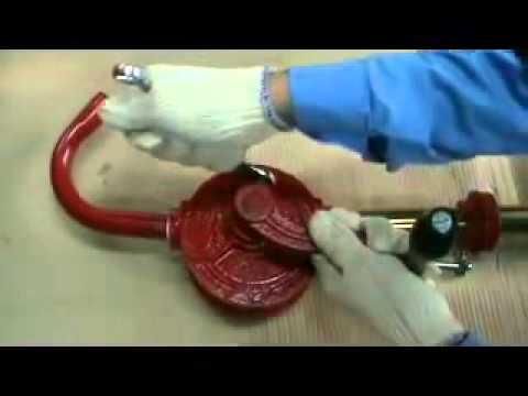 Ручной роторный бочковый насос GROZ