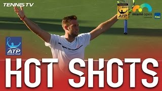 Hot Shot: Sock Deflects Smash With Laser Reactions At Miami 2017