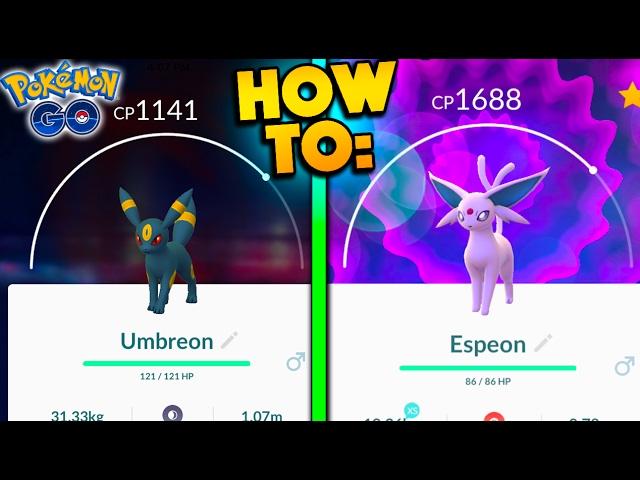 HOW TO GET UMBREON & ESPEON IN POKEMON GO! WORLD'S FIRST GEN 2 UMBREON & ESPEON EVOLUTIONS!