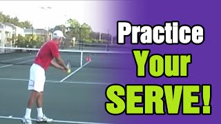Tennis Lessons - How To Practice Your Serve by TomAveryTennis.com