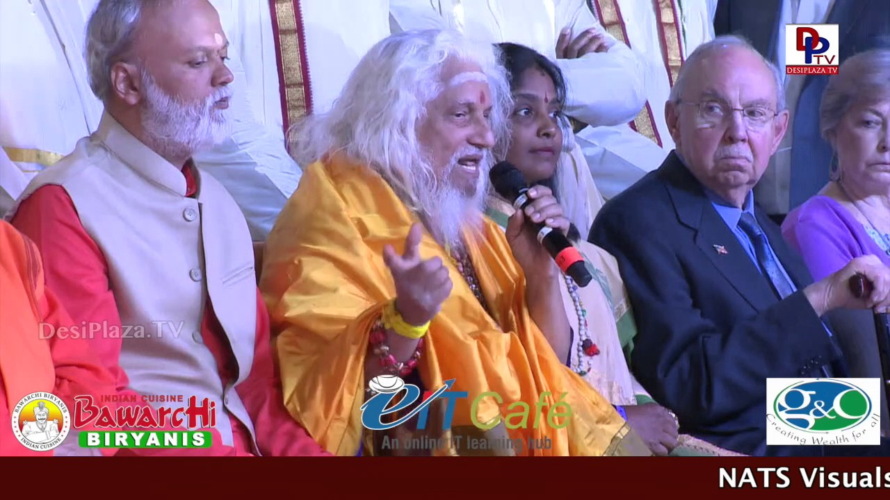 Sri Sri Sri Viswayogi Viswamjee Maharaj speaking in NATS conference