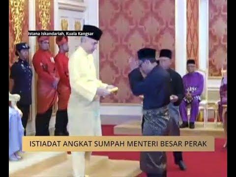 Istiadat angkat sumpah Menteri Besar Perak
