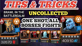 ONE SHOT DWON ALL BOSSES-Uncollected-TIPS & TRICKS(AEGON.THE CHAMPION.ICEMAN.BLADE.STARKSPIDY.GP)