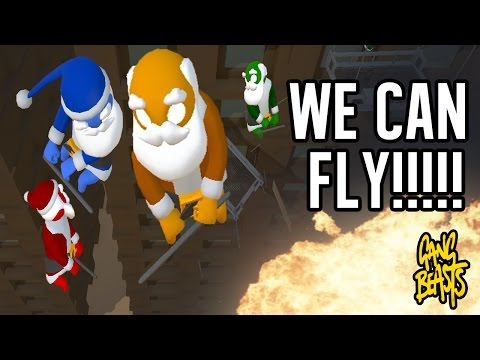 Gang Beasts 0.1.5A! We learn to FLY!!!!!!!