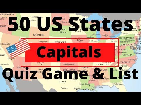 50 US States Capitals Quiz Game & List