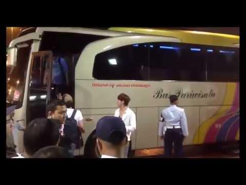 Kedatangan EXO di bandara Soekarno Hatta 2014