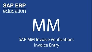 SAP MM Fatura kontrolü: Fatura Girişi