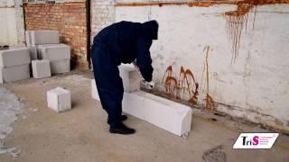 видео Использование газосиликатного клея