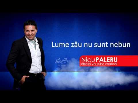 Nicu Paleru - Lume, zau nu sunt nebun [Album nou 2014]