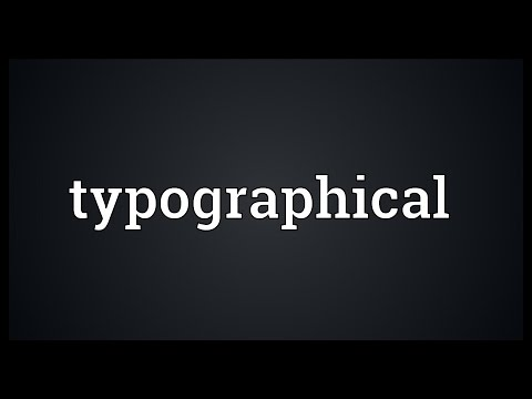 Typographical Meaning