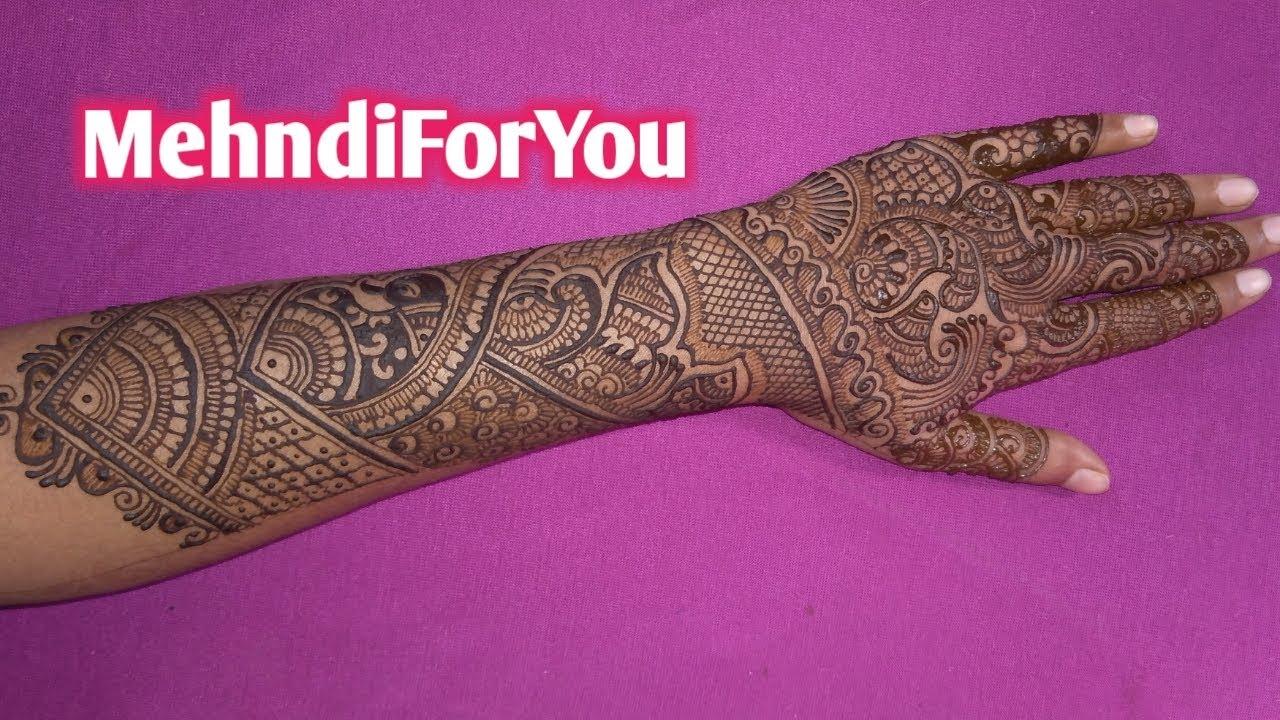 wedding dulhan mehndi design back hand