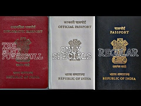 Three Types Of Indian Passportwhat Are The Differences Youtube