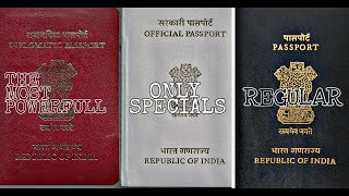 Three Types of Indian Passport?What are the Differences?