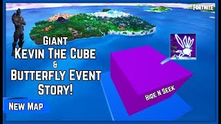 GIANT CUBE & BUTTERFLY EVENT STORY MAP! Hide N Seek Fortnite Creative