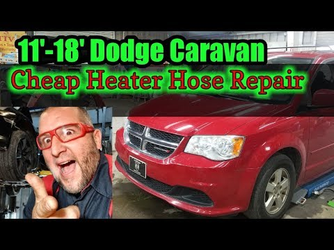 2013 Dodge Caravan cheap heater hose repair DIY