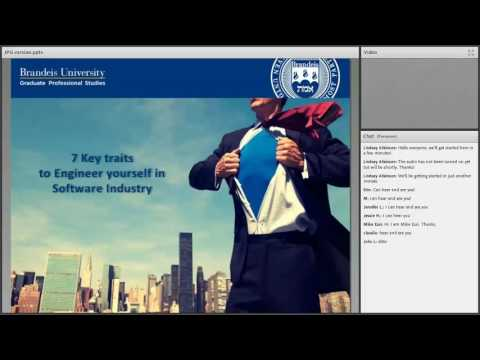 Thought Leadership Webinar: Engineering Yourself in the Software World (Vasanth Krishnamoorthy)