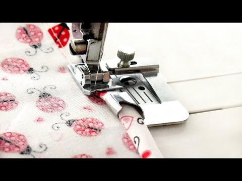 How to use a wide hem foot - quick sewing tips and tutorial from Linda Forager at sewing bee fabrics