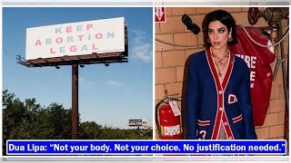 Dua Lipa's post about her stand on abortion elicits mixed reactions