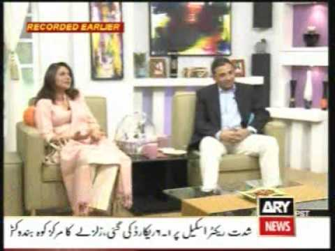 MQM Minister IT Raza Haroon & Mrs Haroon on ARY Maya show Part1