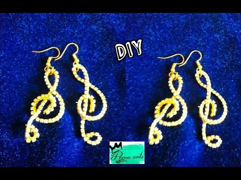 Music symbol earrings - Just making in 2 steps | jewellery tutorials