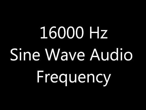 16000 Hz 16 kHz Sine Wave Sound Frequency Tone