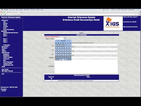 IGS Quick Demo | Grievance Software