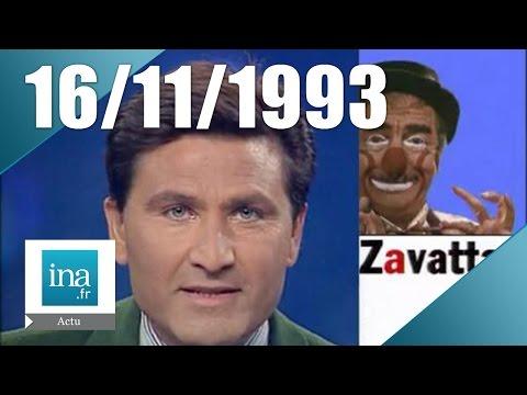 20h France 2 du 16 novembre 1993 - Achille Zavatta est mort   Archive INA
