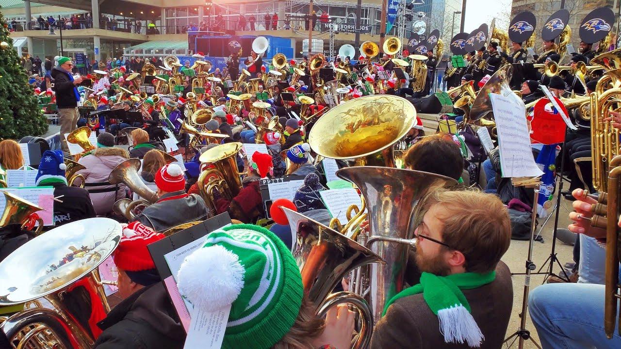 Tuba Christmas 2021 Baltimore Baltimore S 35th Annual Merry Tubachristmas 4k Youtube