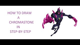 How to draw a chromastone step by step