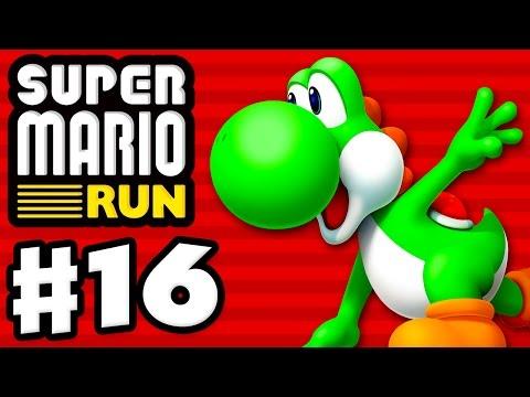 Super Mario Run - Gameplay Walkthrough Part 16 - World 4 All Black Coins! Yoshi Gameplay! (iOS)