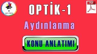 Optik -1 Aydınlanma Konu Anlatımı  PDF  TYT Fizik