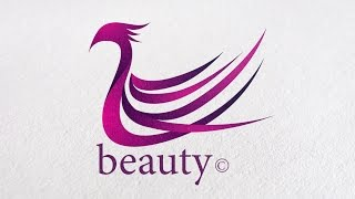 Process Make a Beauty Bird or Animal Logo Design in Adobe illustrator CC - Professional Tutorial