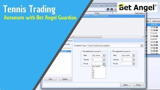 Betfair Tennis Trading - Easily automate your Tennis trading with Bet Angel Guardian