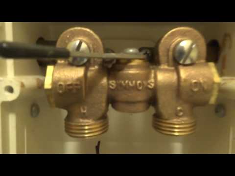 leaking symmons washer machine valve replaced