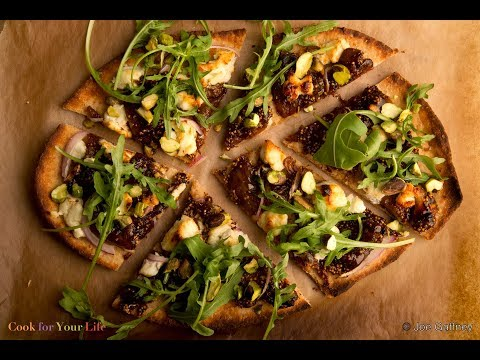 Fig & Goat Cheese Pizza #cancerfighting #eatyourgreens