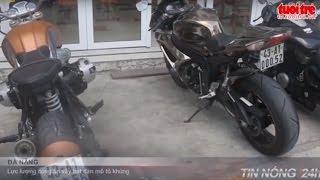 Xe mô tô sử dụng biển số giả rú ga, nẹt pô gây mất trật tự, Tin tức online 24h