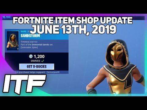 Fortnite Item Shop *NEW* SANDSTORM AND SCIMITAR SET! [June 13th, 2019] (Fortnite Battle Royale)