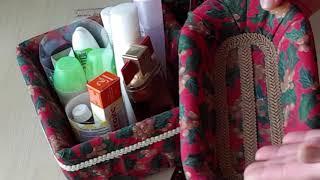 Органайзеры.Стежка, печворк и текстиль в гофрокартонном царстве.