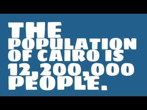 What is the population density of Cairo?