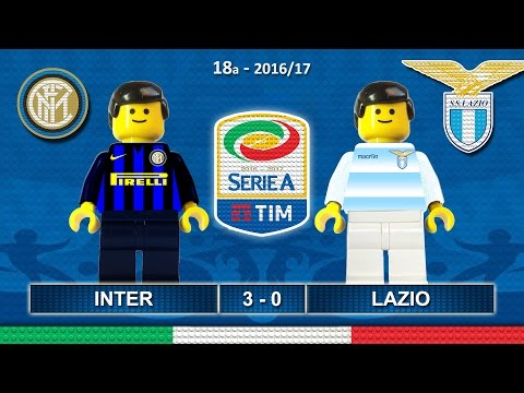 INTER LAZIO 3-0 • Serie A 2016/17 ( Film Lego Calcio ) Goal e Highlights Sintesi