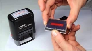 Trodat date stamp ink pad change